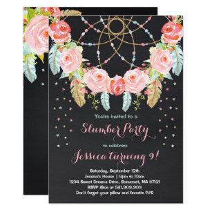 Slumber Party Birthday Invitation Sleepover