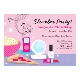 Slumber Party Birthday Invitations