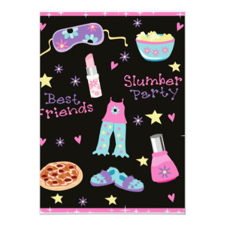 Slumber Party for Girls Card