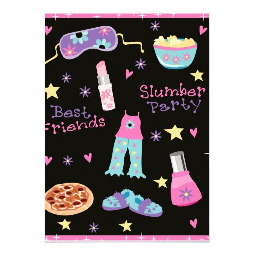 Slumber Party for Girls Invitations