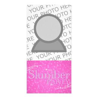 slumber party gifts pink starshine picture card