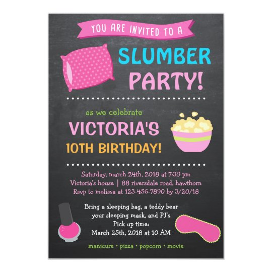 Slumber Party Invitation / Sleepover Invitation | Zazzle
