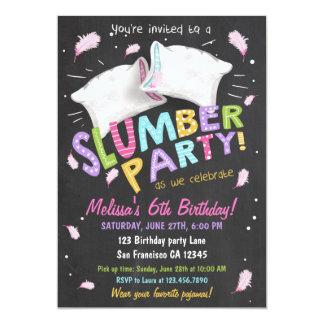Slumber Party Pajamas Sleepover Invitation