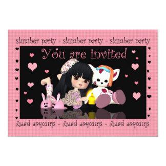 "Slumber Party - Sleep Over - Invitation 5"" X 7"" Invitation Card"