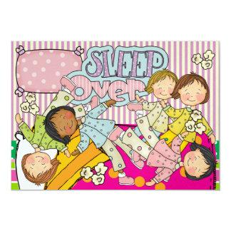 Slumber Party - Sleep Over 13 Cm X 18 Cm Invitation Card