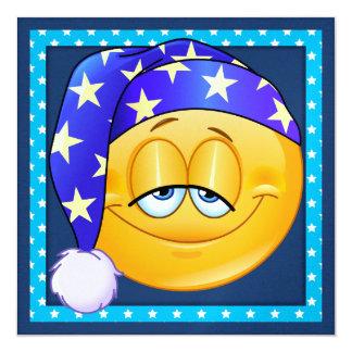 Slumber Party / Sleep Over - SRF 5.25x5.25 Square Paper Invitation Card