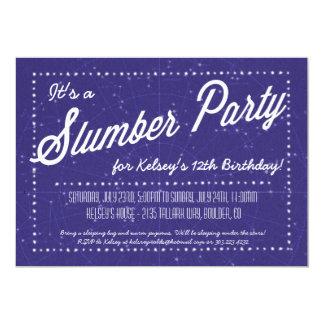 Slumber Party - Sleep Over Under the Stars Card