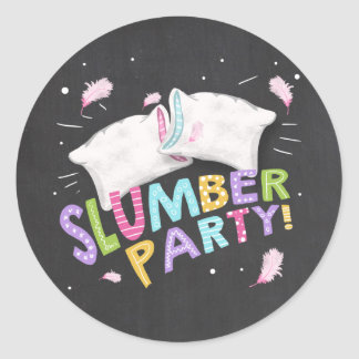 Slumber Party Sleepover Envelope seal stickers