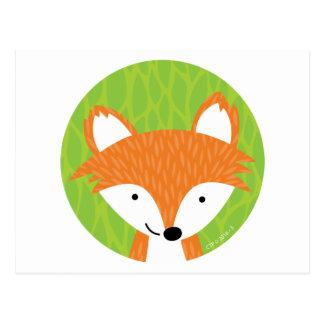 Sly Little Fox- Woodland Friends Postcard