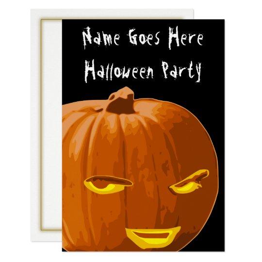 Sly Pumpkin Halloween Party Invitation