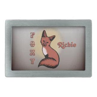 Sly Red Foxy Fox Belt Buckle