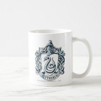Slytherin Crest Blue Basic White Mug