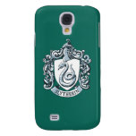 Slytherin Crest Blue Galaxy S4 Cases