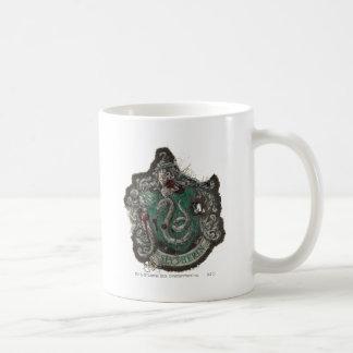 Slytherin Crest - Destroyed Basic White Mug