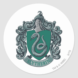 Slytherin Crest Green Round Sticker