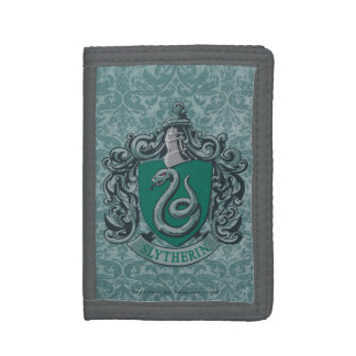 Slytherin Crest Green Trifold Wallets