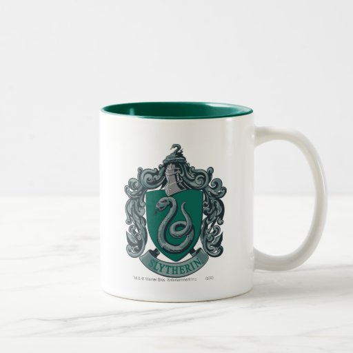 Slytherin Crest Green Two-Tone Mug