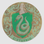 Slytherin Crest HPE6 Classic Round Sticker