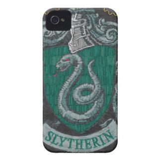 Slytherin Destroyed Crest iPhone 4 Case-Mate Case