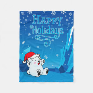 SM Happy Holidays Fleece Blanket