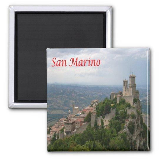 SM - San Marino - Monte Titano - Panorama Square Magnet