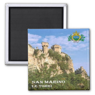 SM - San Marino - The Two Towers Magnet