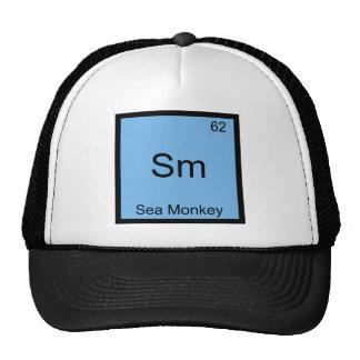Sm - Sea Monkey Funny Chemistry Element Symbol Tee Cap