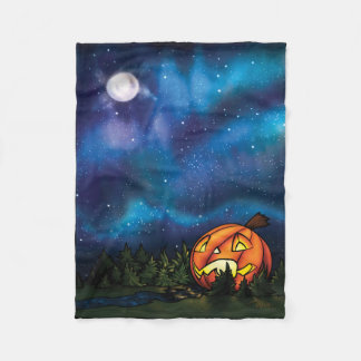 SM Starry Pumpkin Nights Fleece Blanket
