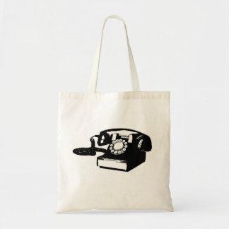 sm. tote - my favorite vintage style phone budget tote bag
