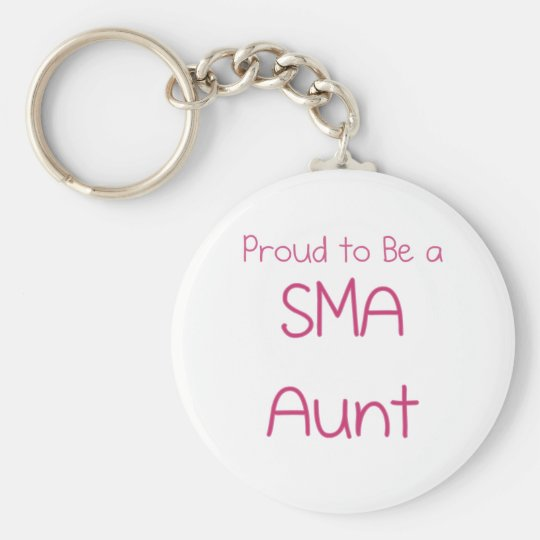 SMA Family - Aunt Basic Round Button Key Ring