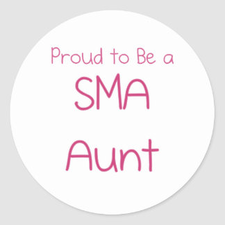 SMA Family - Aunt Round Sticker