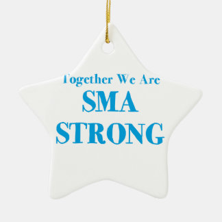 SMA Strong - Light Blue Christmas Ornament