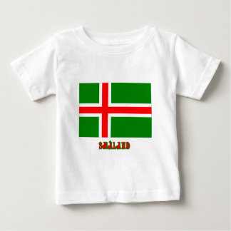 Småland flag with name (unofficial) baby T-Shirt