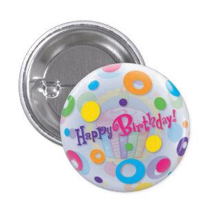 Small, 1¼ Inch Round Happy Birthday Button