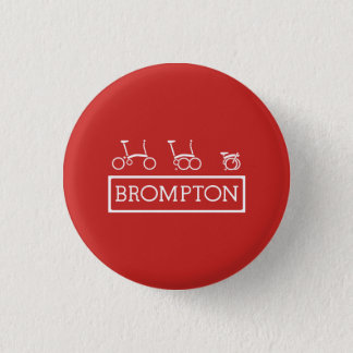 "Small, 3.2 cm (1.25"") Round Brompton Bicycle Badge"