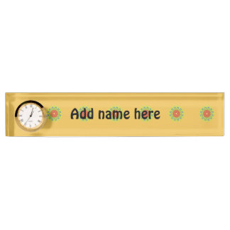 Small abstract pattern nameplate