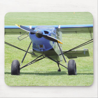 Small Airplane Parked On The Grass Mouse Mat