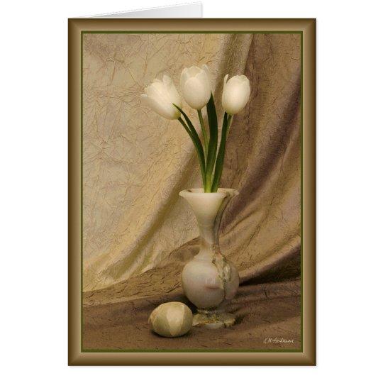Small alabaster vase card