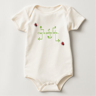small animal baby bodysuit