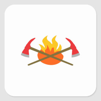 SMALL AXES AND FLAME SQUARE STICKER