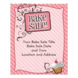 Small Bake Sale Flyers, Sweet Pink Swirls
