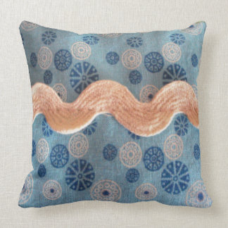 small balls blank and blue throw pillows