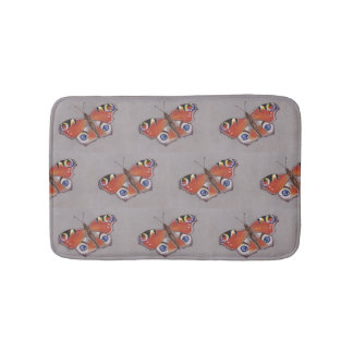 Small Bath Mat with Peacock Butterfly Design 2