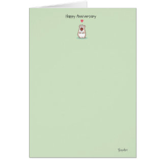 SMALL BEAR Anniversary Card