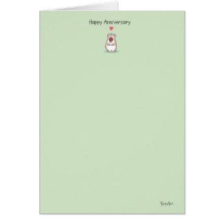 SMALL BEAR Anniversary Card