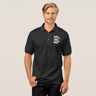 Small Beer Mug Front - Large White Logo on Back Polo Shirt