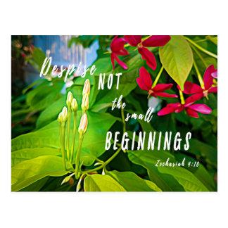 Small Beginnings Inspirational Blank Postcard