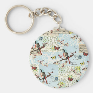 Small birds and music - Key ring