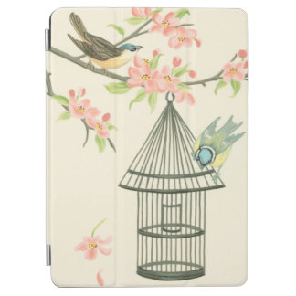 Small Birds Perched on a Branch and on a Birdcage iPad Air Cover