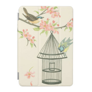 Small Birds Perched on a Branch and on a Birdcage iPad Mini Cover